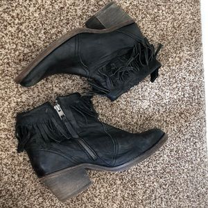 All saints black booties